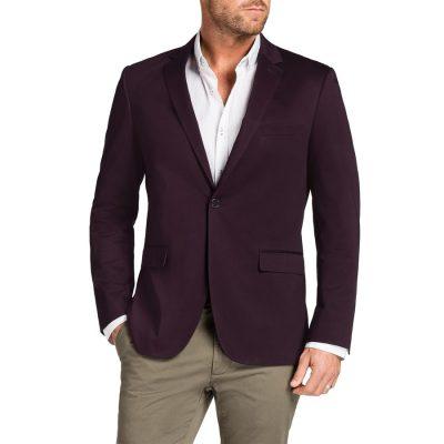 Fashion 4 Men - Tarocash Garrett Stretch Jacket Burgundy Xxl