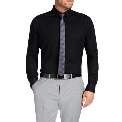 Fashion 4 Men - Tarocash Highbury Paisley Shirt Black 5 Xl