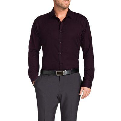 Fashion 4 Men - Tarocash Highbury Paisley Shirt Burgundy Xl