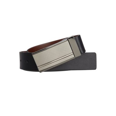 Fashion 4 Men - Tarocash Hogan Reversible Belt Black/Brown 40