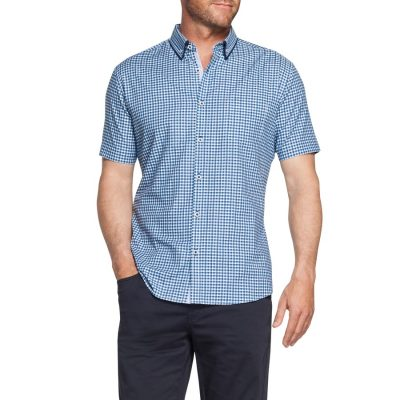Fashion 4 Men - Tarocash Holmes Check Shirt Blue Xxxl