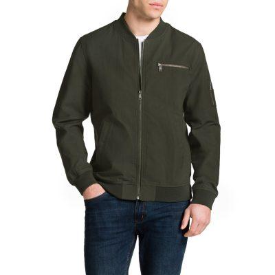 Fashion 4 Men - Tarocash Justin Cotton Bomber Khaki S