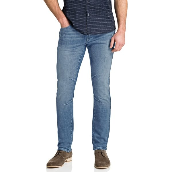 Fashion 4 Men - Tarocash Knee Detail Tapered Jean Sky 36
