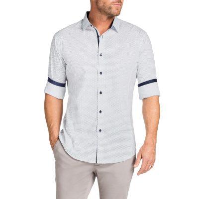 Fashion 4 Men - Tarocash Linus Print Shirt White S