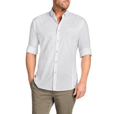 Fashion 4 Men - Tarocash Matt Slim Print Shirt White Xxl