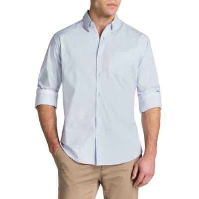 Fashion 4 Men - Tarocash Mini Floral Slim Print Shirt Sky L