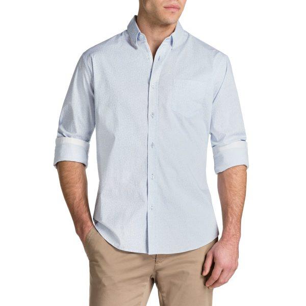 Fashion 4 Men - Tarocash Mini Floral Slim Print Shirt Sky Xl