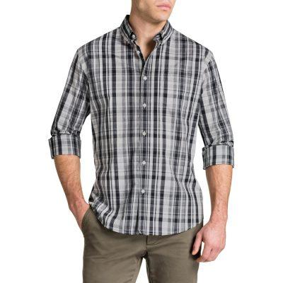 Fashion 4 Men - Tarocash Morton Check Shirt Grey S