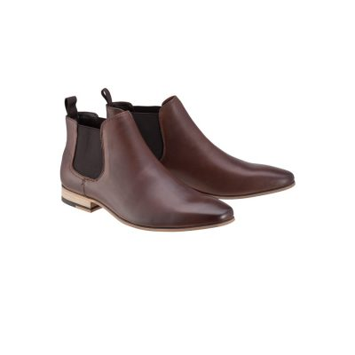 Fashion 4 Men - Tarocash New Acton Gusset Boot Chocolate 10