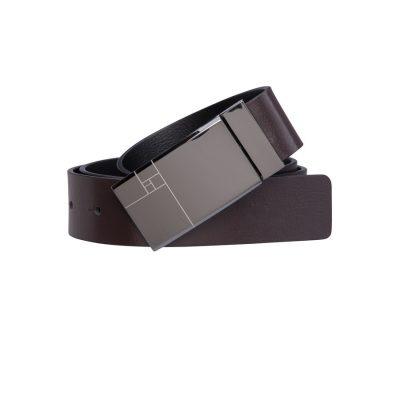 Fashion 4 Men - Tarocash Parsons Reversible Belt Choc/Black 36