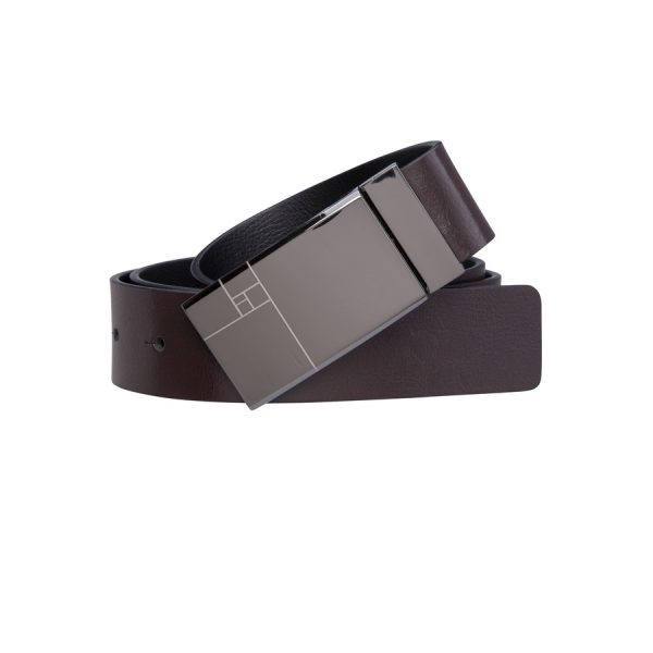 Fashion 4 Men - Tarocash Parsons Reversible Belt Choc/Black 38