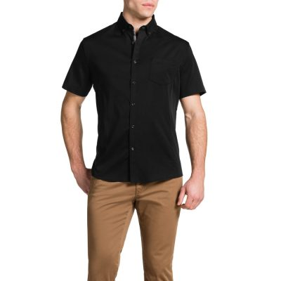 Fashion 4 Men - Tarocash Patrick Stretch Shirt Black 5 Xl