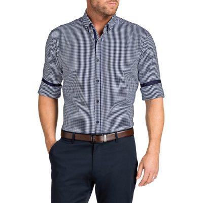 Fashion 4 Men - Tarocash Paulo Check Shirt Navy L