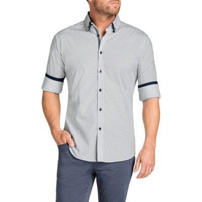 Fashion 4 Men - Tarocash Provincial Print Shirt Navy L