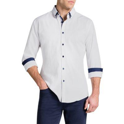 Fashion 4 Men - Tarocash Raleigh Jacquard Shirt White Xxl