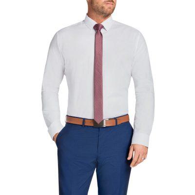 Fashion 4 Men - Tarocash Romeo Textured Shirt White Xxxl