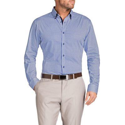Fashion 4 Men - Tarocash Seaforth Slim Jacquard Shirt Cobalt S