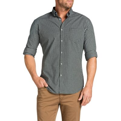 Fashion 4 Men - Tarocash Slater Slim Check Shirt Khaki L
