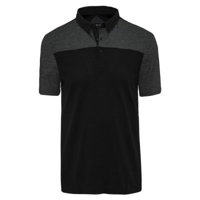 Fashion 4 Men - Tarocash Spliced Block Polo Black Xl