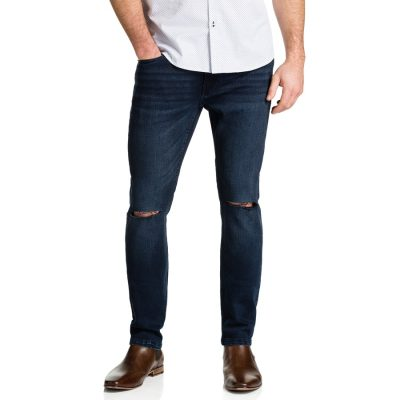 Fashion 4 Men - Tarocash Split Knee Tapered Jean Ink 34