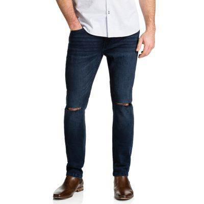 Fashion 4 Men - Tarocash Split Knee Tapered Jean Ink 42