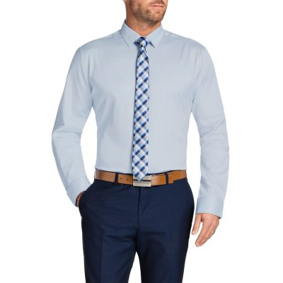Fashion 4 Men - Tarocash Tobias Dress Shirt Sky Xs