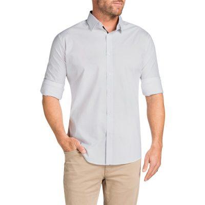 Fashion 4 Men - Tarocash Uno Stretch Print Shirt White M