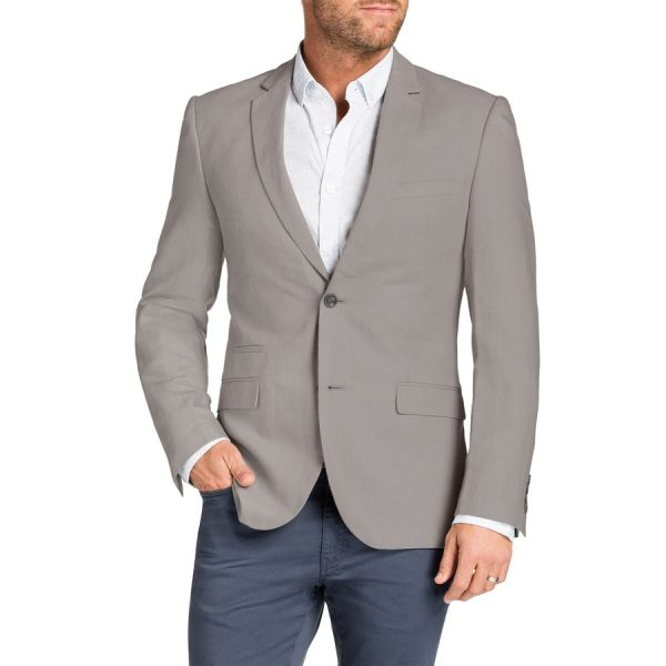 Fashion 4 Men - Tarocash Windsor Linen Blend Jacket Natural Xxl