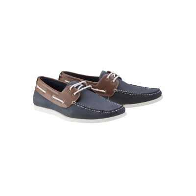 Fashion 4 Men - Tarocash 2 Tone Boat Shoe Navy 11