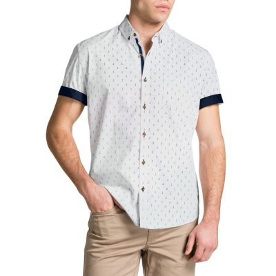 Fashion 4 Men - Tarocash Anchor Print Shirt White L
