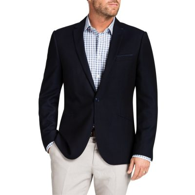 Fashion 4 Men - Tarocash Aston Textured Jacket Navy 4 Xl