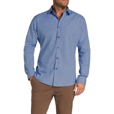 Fashion 4 Men - Tarocash Bamburg Textured Shirt Blue S