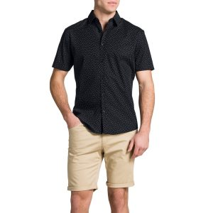 Fashion 4 Men - Tarocash Black Square Shirt Black 4 Xl