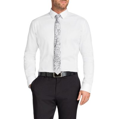 Fashion 4 Men - Tarocash Brooklyn Textured Shirt White L