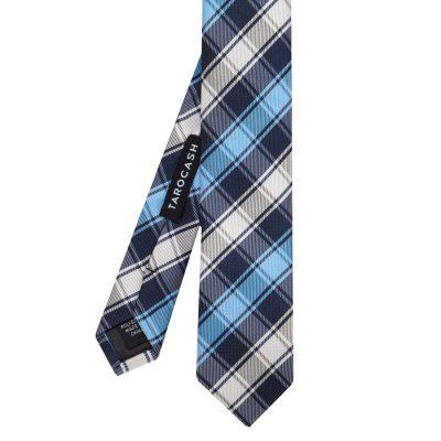 Fashion 4 Men - Tarocash Check Tie Blue 1