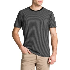 Fashion 4 Men - Tarocash Compton Stripe Crew Neck Tee Black 4 Xl