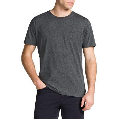 Fashion 4 Men - Tarocash Essential Crew Neck Tee Charcoal Marle S