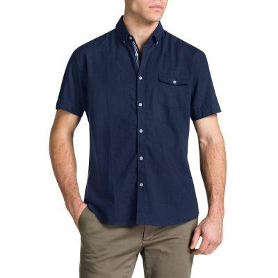 Fashion 4 Men - Tarocash Essential Plain Shirt Navy 5 Xl