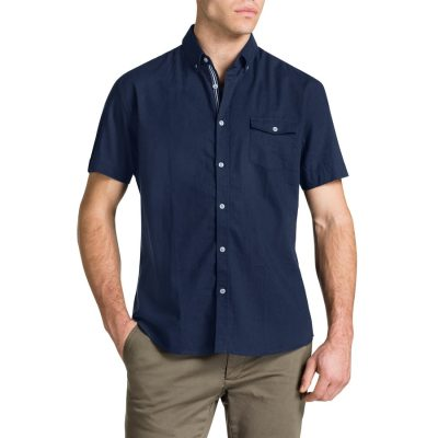 Fashion 4 Men - Tarocash Essential Plain Shirt Navy S
