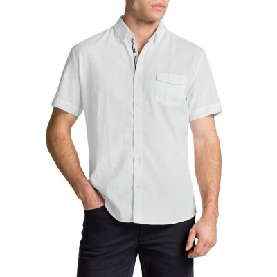 Fashion 4 Men - Tarocash Essential Plain Shirt White L