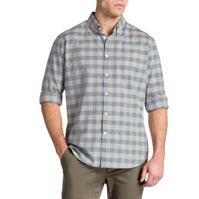 Fashion 4 Men - Tarocash Lakewood Check Shirt Cement 5 Xl