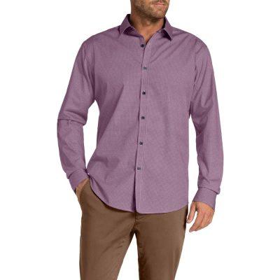 Fashion 4 Men - Tarocash Ludlow Print Shirt Berry L