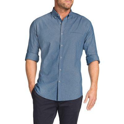 Fashion 4 Men - Tarocash Maxwell Chambray Shirt Denim 4 Xl