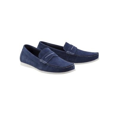 Fashion 4 Men - Tarocash Oliver Suede Loafer Navy 12