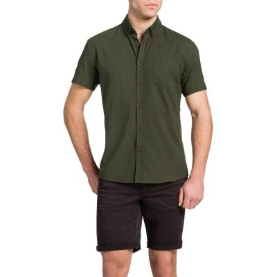 Fashion 4 Men - Tarocash Oxford Spot Shirt Khaki Xxl