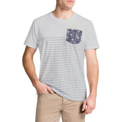 Fashion 4 Men - Tarocash Printed Stripe Tee White Xl