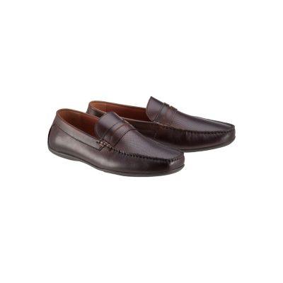 Fashion 4 Men - Tarocash Reeve Driving Shoe Chocolate 9