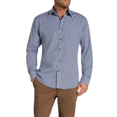 Fashion 4 Men - Tarocash Warwick Check Shirt Navy M