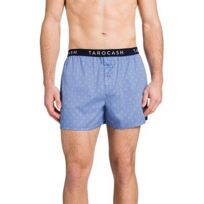 Fashion 4 Men - Tarocash Anchor Print Boxer Short Navy S/M