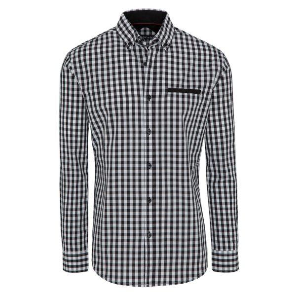 Fashion 4 Men - Tarocash Blain Check Shirt Black 5 Xl